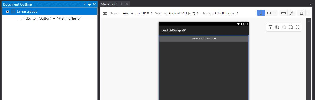 Visual Studio17でandroidアプリ開発 Fire Hd8